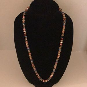 Betsey Johnson Gold Tone Confetti Rope Necklace
